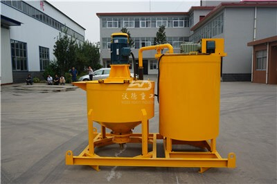 cement grout mixer with agitator