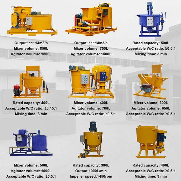 cement grout mixer for Singapore