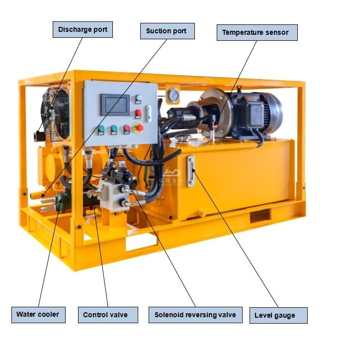 Electric piston grout pump for Tunnel operation