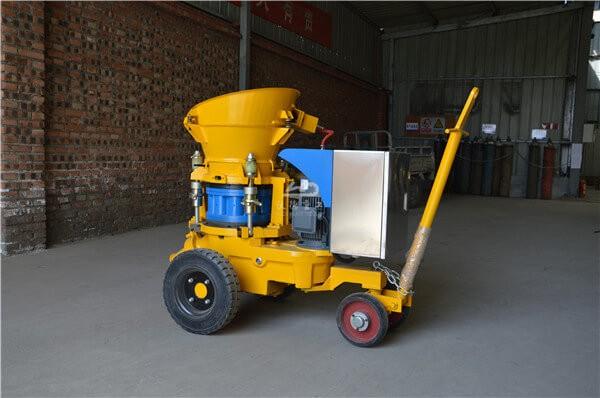 Portable electric shotcrete machine for concrete mix