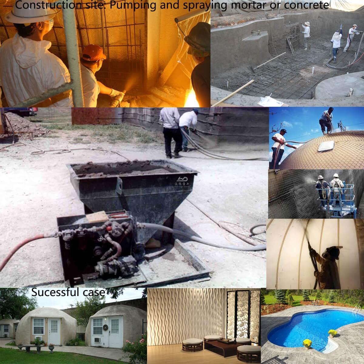 WDS2000E electricshotcretepumpequipmentSingapore applications (1)Building dome, swimming pool etc; (2)Pump and spray normal concrete; (3)Pump and spray mortar/plaster; (4)Pump and spray cellular light concrete.