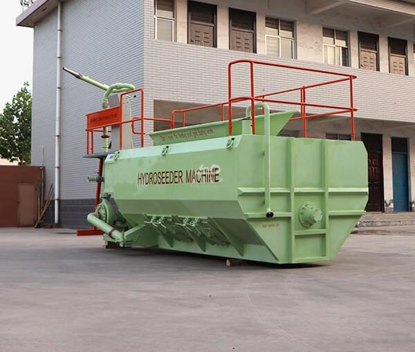 Hydroseeding grass seed spraying machine
